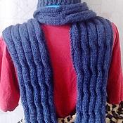 Аксессуары ручной работы. Ярмарка Мастеров - ручная работа Мужской комплект шапка и шарф вязаные спицами. Handmade.