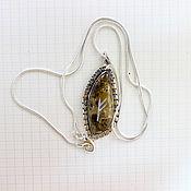 Фен-шуй и эзотерика ручной работы. Ярмарка Мастеров - ручная работа Кулон из яшмы с вырезанной руной Феху. Handmade.