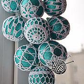 Подарки к праздникам ручной работы. Ярмарка Мастеров - ручная работа Шары елочные новогодние вязаные крючком, набор шаров, шары на елку. Handmade.