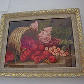 Картины и панно ручной работы. Ярмарка Мастеров - ручная работа Розы и малина. Handmade.