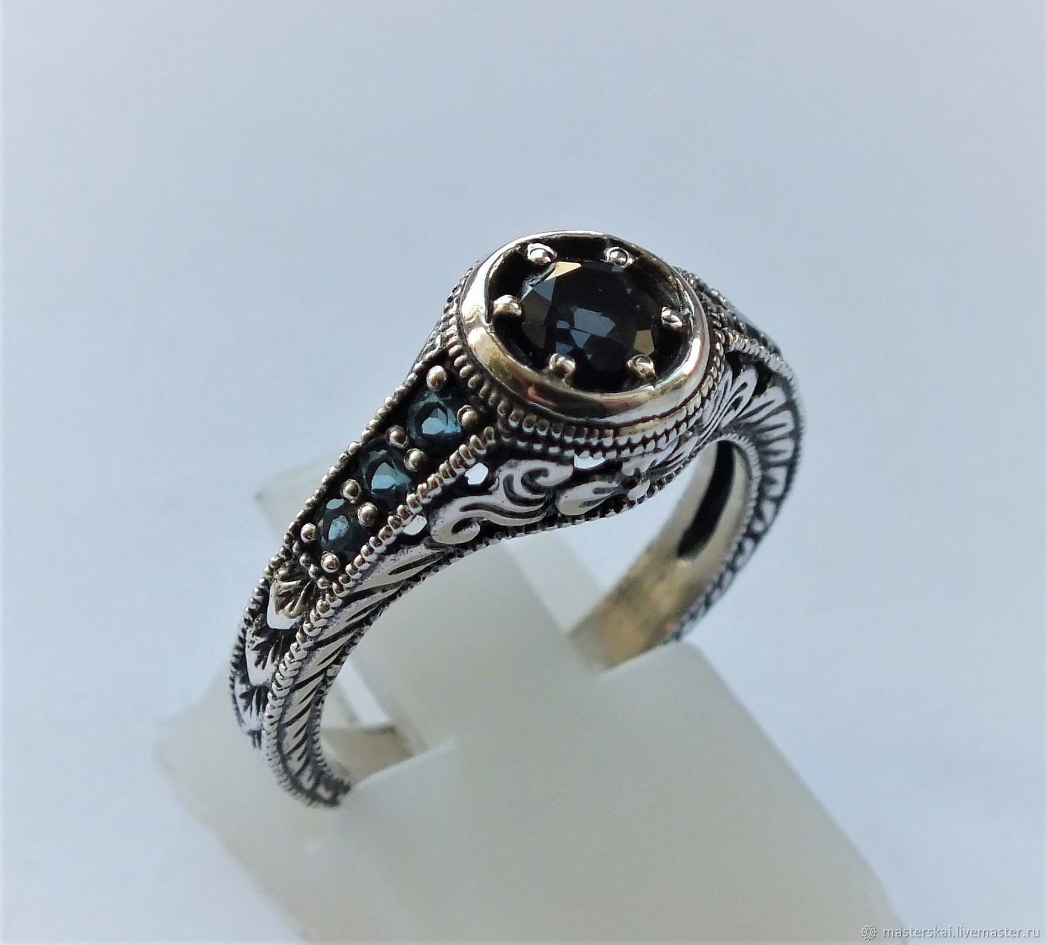 Ring: ' Ula'- London Topaz, 925 sterling silver, Rings, Moscow,  Фото №1