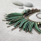 Украшения handmade. Livemaster - original item Beads ethnic multi massive on the chain Inara. Handmade.