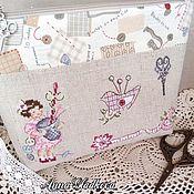 Сумки и аксессуары handmade. Livemaster - original item Textile cosmetic bag zipper hand embroidery needlework. Handmade.