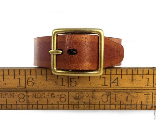 """Браслеты ручной работы. Ярмарка Мастеров - ручная работа. Купить Кожаный браслет """"Ремень"""" - тыквенный. Handmade. Натуральная кожа"""