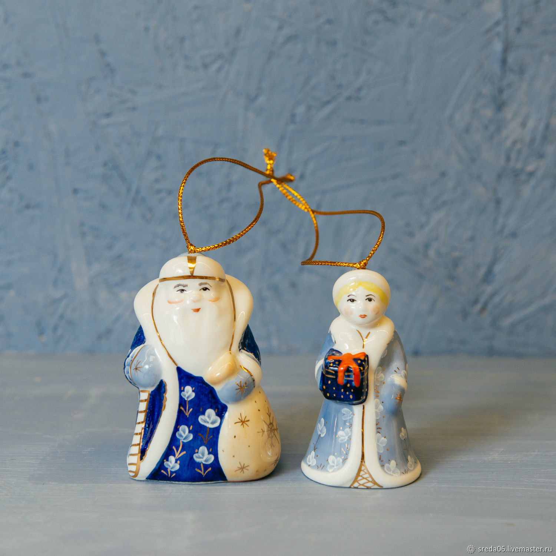Дед Мороз и Снегурочка Игрушки на елку , колокольчики, Колокольчики, Сергиев Посад,  Фото №1