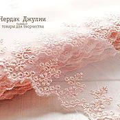 Материалы для творчества handmade. Livemaster - original item Lace sewing on the mesh pale pink. Handmade.