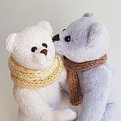 Мягкие игрушки ручной работы. Ярмарка Мастеров - ручная работа Мишки тедди Николя и Роза. Handmade.