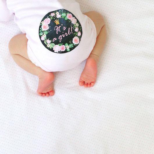 Аксессуары для фотосессий ручной работы. Ярмарка Мастеров - ручная работа. Купить Набор наклеек для фотосессии новорождённой MIMIMI Princess мел. доска. Handmade.