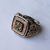 Украшения handmade. Livemaster - original item Ring with citrine and gold. Handmade.