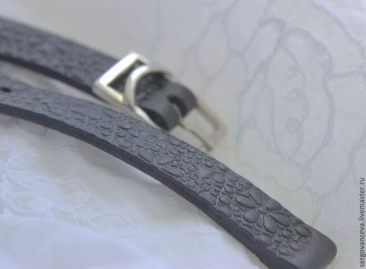 Часы ручной работы. Ярмарка Мастеров - ручная работа. Купить Ремешок на ваши часы №10. Handmade. Черный, кожа натуральная