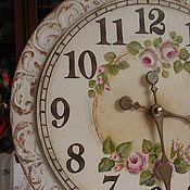 Для дома и интерьера ручной работы. Ярмарка Мастеров - ручная работа Часы настенные Шебби(Роспись ). Handmade.