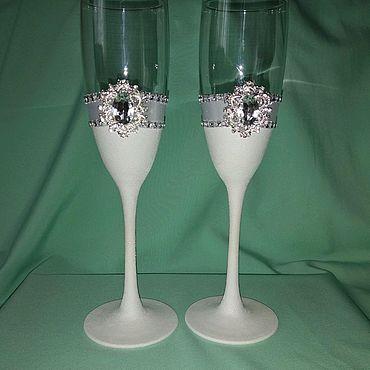 Свадебный салон ручной работы. Ярмарка Мастеров - ручная работа Свадебные бокалы в классическом стиле. Handmade.