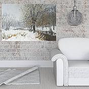 Картины и панно handmade. Livemaster - original item Oil painting, winter landscape. Handmade.