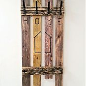 """Для дома и интерьера handmade. Livemaster - original item Вешалка для одежды настенная """"Дом"""". Handmade."""
