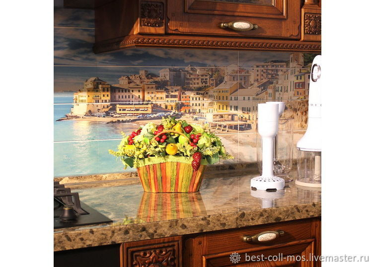 Интерьерные композиции ручной работы. Ярмарка Мастеров - ручная работа. Купить Композиция с фруктами, клубникой и  розами. Handmade. Цветы