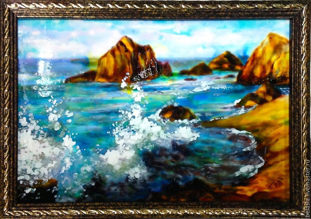 The sound of the surf, stained glass painting, Pictures, Moscow,  Фото №1