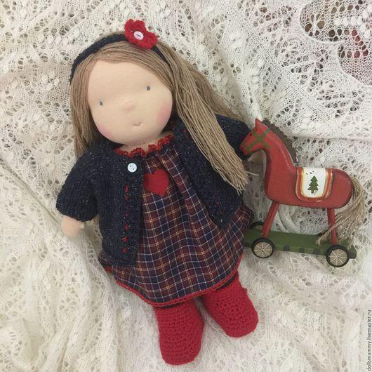 Вальдорфская игрушка ручной работы. Ярмарка Мастеров - ручная работа. Купить Вальдорфская  кукла в пальто. Handmade. Разноцветный, игровая кукла