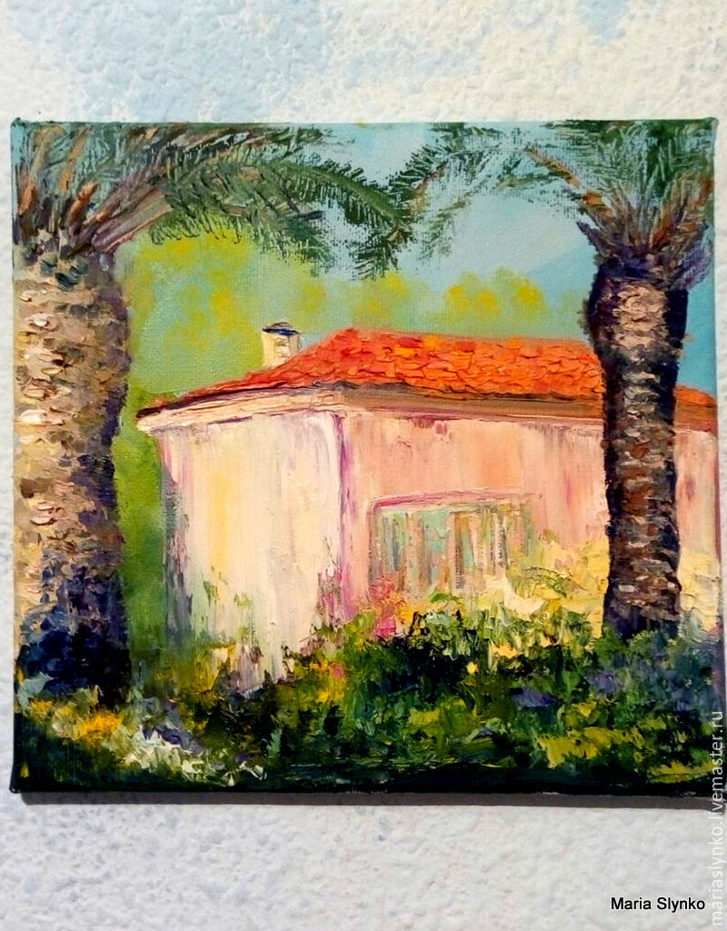 Landscape. Spanish house