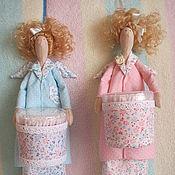 Для дома и интерьера ручной работы. Ярмарка Мастеров - ручная работа Хранительница ватных палочек и дисков. Handmade.
