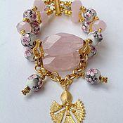 Украшения handmade. Livemaster - original item A set of quartz and porcelain in the Oriental style cherry Blossom.. Handmade.