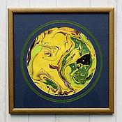 Картины и панно ручной работы. Ярмарка Мастеров - ручная работа живопись на воде 16. Handmade.