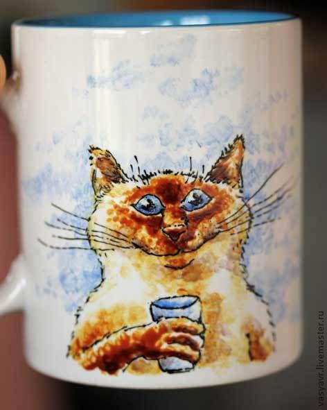 Кружки и чашки ручной работы. Ярмарка Мастеров - ручная работа. Купить Шимушка. Handmade. Тайский, кошка, зверь