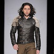 Одежда handmade. Livemaster - original item Leather Jacket Drovosek. Handmade.