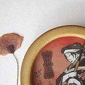 """Картины и панно ручной работы. Ярмарка Мастеров - ручная работа Картина с японским мотивом """"Женщина онна-бугэйся"""". Handmade."""