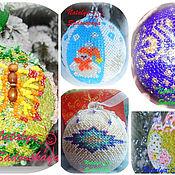 Подарки к праздникам ручной работы. Ярмарка Мастеров - ручная работа Ёлочные шары. Handmade.