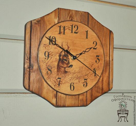 """Часы для дома ручной работы. Ярмарка Мастеров - ручная работа. Купить Часики """"Олененок"""". Handmade. Часы, олененок, коричневый"""