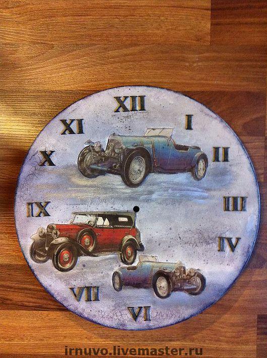Часы для дома ручной работы. Ярмарка Мастеров - ручная работа. Купить Часы ретро Автомобили. Handmade. Подарок для мужчин