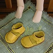 Материалы для творчества handmade. Livemaster - original item Blythe shoes yellow. Handmade.