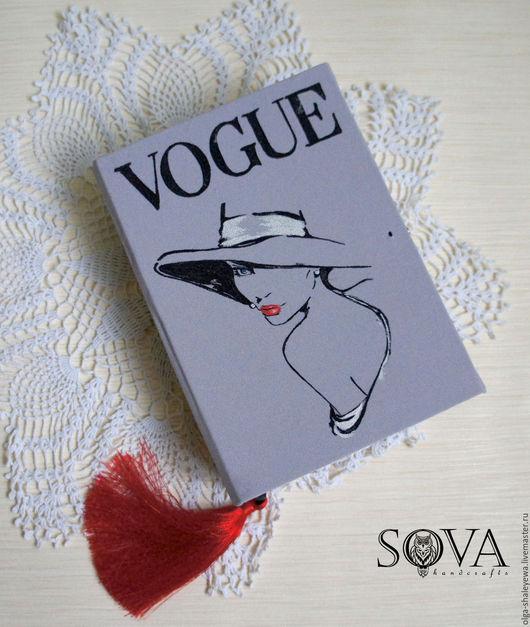 """Женские сумки ручной работы. Ярмарка Мастеров - ручная работа. Купить Клатч-книга """"Vogue"""". Handmade. Серый, клатч вечерний"""