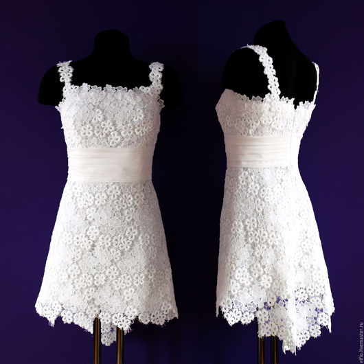 Платья ручной работы. Ярмарка Мастеров - ручная работа. Купить Платье кружевное. Handmade. Белый, туника, пляж, летнее платье