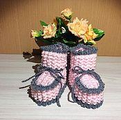 Пинетки ручной работы. Ярмарка Мастеров - ручная работа Пинетки для новорожденных. Handmade.