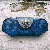 Аксессуары handmade. Livemaster - original item Leather case for sunglasses, eyeglass case skull Labour. Handmade.