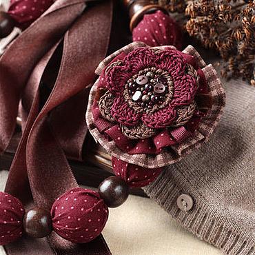 """Украшения ручной работы. Ярмарка Мастеров - ручная работа Комплект """"Вишня в шоколаде"""". Handmade."""