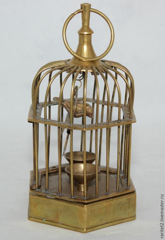Винтажные предметы интерьера. Ярмарка Мастеров - ручная работа. Купить Клетка птица латунь Англия 2. Handmade. Золотой, раритет