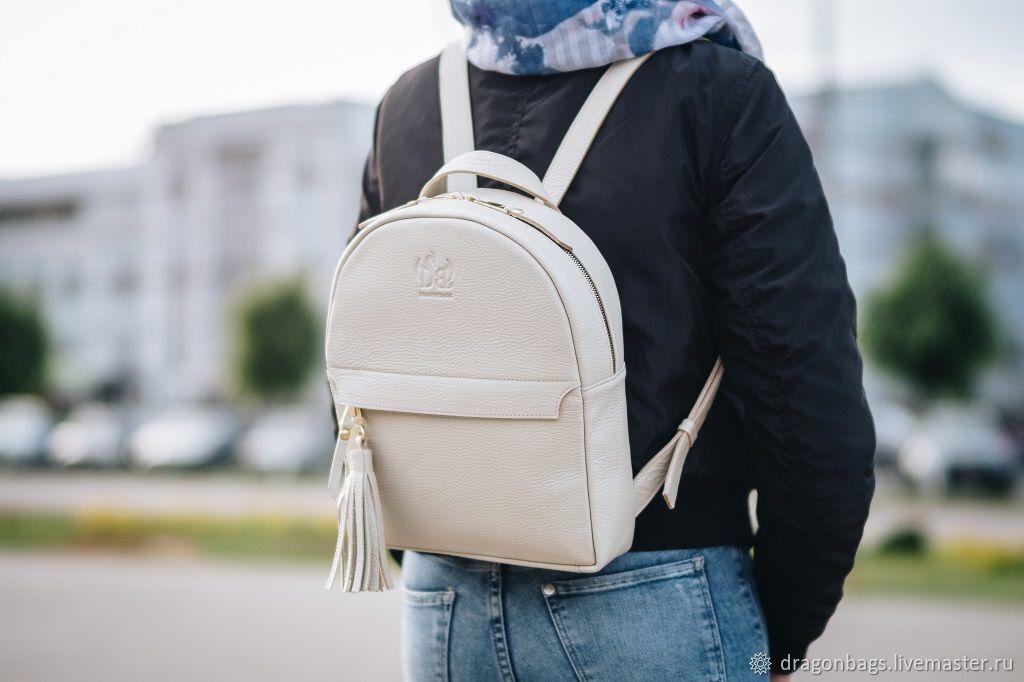 Backpack female leather 'Ammo' (Beige), Backpacks, Yaroslavl,  Фото №1