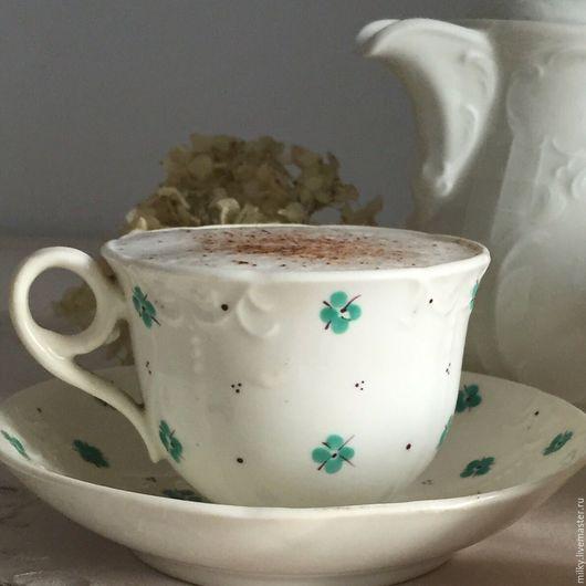 Винтажная посуда. Ярмарка Мастеров - ручная работа. Купить Антикварная фаянсовая чашка. Handmade. Белый, кофейная чашка, антикварная чашка