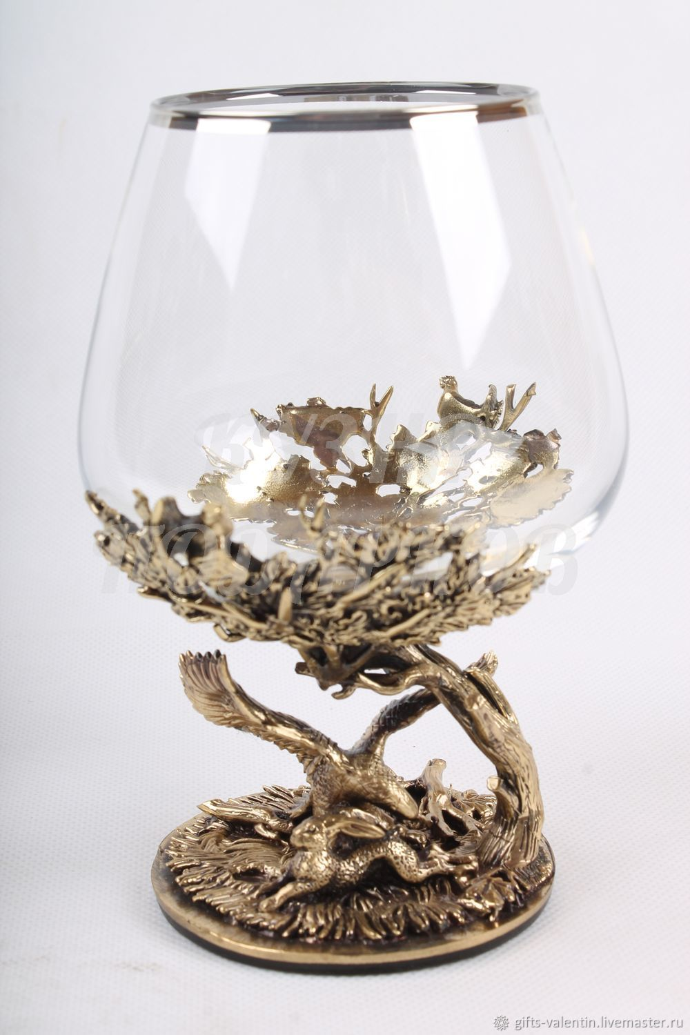A glass of brandy 'eagle hunting', Gifts for hunters and fishers, Vacha,  Фото №1