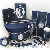 Свадебный салон ручной работы. Ярмарка Мастеров - ручная работа Свадебные аксессуары в синем цвете. Handmade.