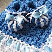 Работы для детей, ручной работы. Ярмарка Мастеров - ручная работа Плед для новорожденного Колокольчик. Handmade.