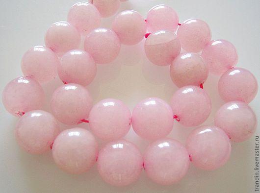 Для украшений ручной работы. Ярмарка Мастеров - ручная работа. Купить Розовый нефрит. Бусина шар 16мм. Handmade. Камни