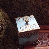"""Для дома и интерьера ручной работы. Ярмарка Мастеров - ручная работа Короб """"Золотая синь"""". Handmade."""