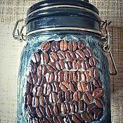 """Банки ручной работы. Ярмарка Мастеров - ручная работа Банка для кофе """"КоФЕЙок"""". Handmade."""
