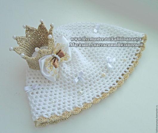"""Одежда для девочек, ручной работы. Ярмарка Мастеров - ручная работа. Купить Панамка """" Моя маленькая Принцесса"""". Handmade. Белый"""