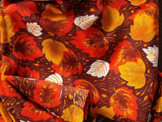 Шитье ручной работы. Ярмарка Мастеров - ручная работа. Купить 290 х 88 см. Крепдешин, натуральный шелк, винтаж.. Handmade.