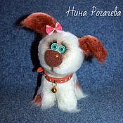 Куклы и игрушки ручной работы. Ярмарка Мастеров - ручная работа Собачка Сонька. Собака вязаная. Год собаки. Handmade.