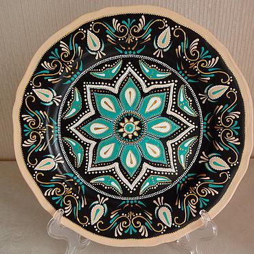 Посуда ручной работы. Ярмарка Мастеров - ручная работа Декоративная тарелка Неаполитано. Handmade.